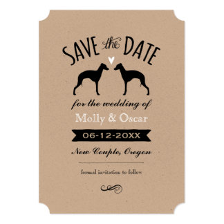 Italian Greyhounds Wedding Save the Date Card