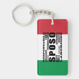 Italian Grooms : Qualities Double-Sided Rectangular Acrylic Keychain