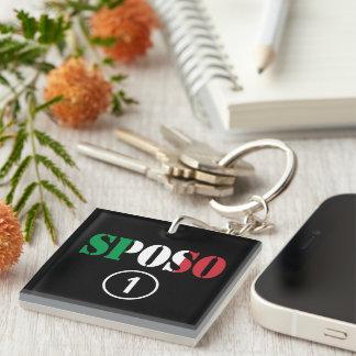 Italian Grooms : Sposo Numero Uno Single-Sided Square Acrylic Keychain