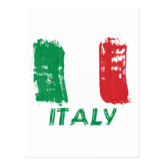 Italian grunge flag design postcard