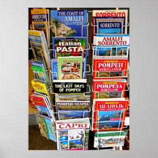 Italian Guidebooks Poster