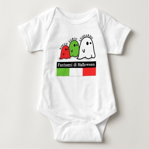 Italian Halloween Ghosts, Fantasmi di Halloween Baby Bodysuit