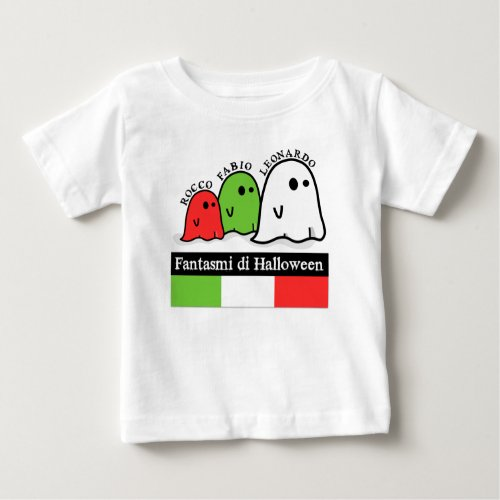 Italian Halloween Ghosts, Fantasmi di Halloween Baby T-Shirt