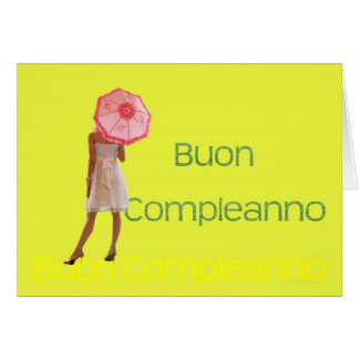 Italian Happy Birthday Card