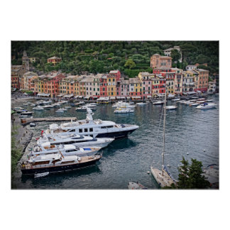 Italian Harbor Village - Portofino Poster