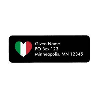 Italian Heart Avery Label