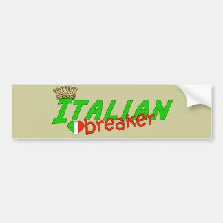 Italian Heart Breaker With Crown Bumper Sticker