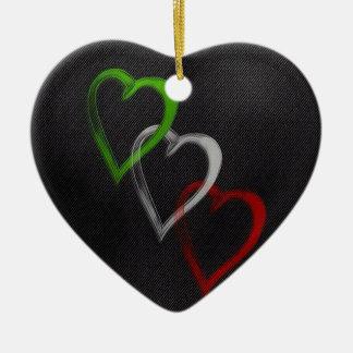 Italian Hearts Ceramic Ornament
