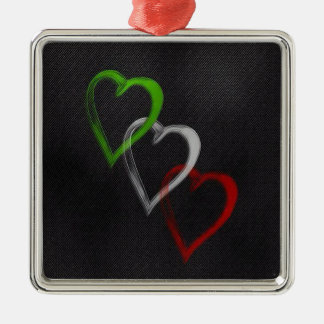 Italian Hearts Metal Ornament