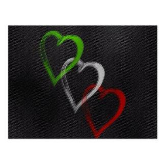 Italian Hearts Postcard