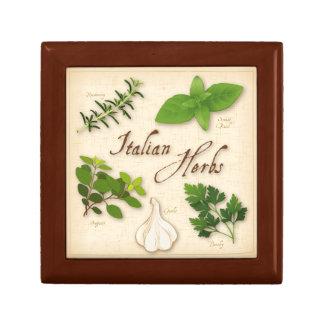 Italian Herbs, Basil, Oregano, Parsley, Garlic Keepsake Box
