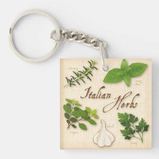 Italian Herbs, Basil, Oregano, Parsley, Garlic Keychain
