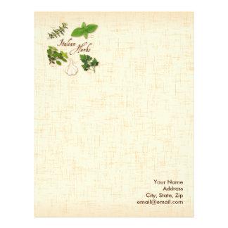 Italian Herbs, Basil, Oregano, Parsley, Garlic Letterhead