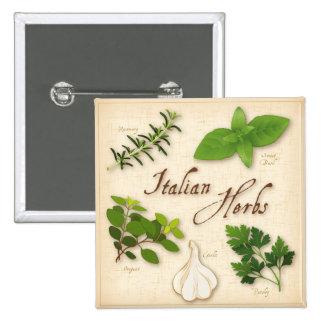 Italian Herbs, Basil, Oregano, Parsley, Garlic Pinback Button