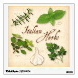 Italian Herbs, Basil, Oregano, Parsley, Garlic Wall Sticker