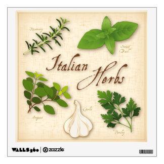 Italian Herbs, Basil, Oregano, Parsley, Garlic Room Decals