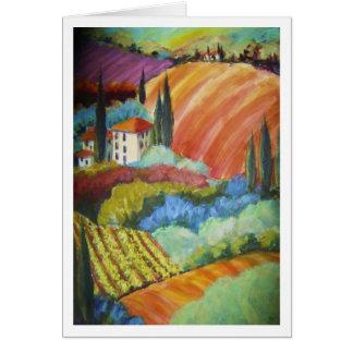 "Italian Hillside ""La Olivas"" Card"