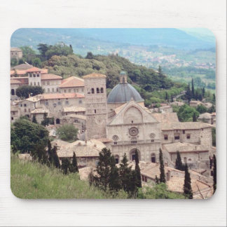 Italian Hillside Village and Valley View Mouse Pad