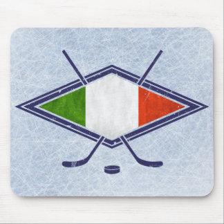 Italian Hockey Flag Logo Mouse Pad