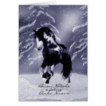 Italian Horse Christmas Card - Digital Painting -