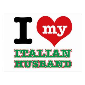Italian I heart designs Postcard