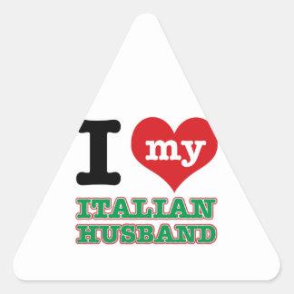 Italian I heart designs Triangle Stickers