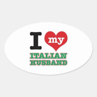 Italian I heart designs Sticker