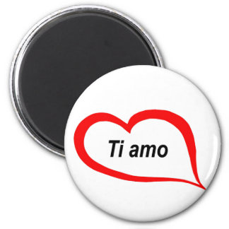 Italian I love you 2 Inch Round Magnet
