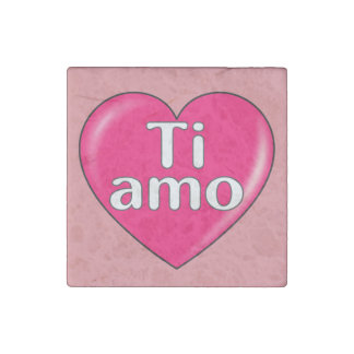 Italian - I love you Stone Magnet