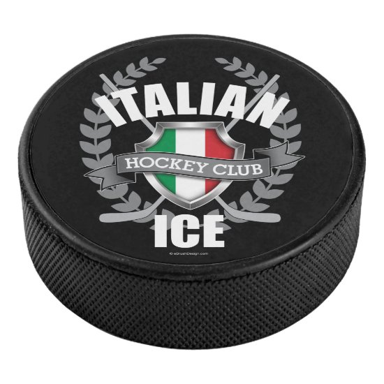 Italian Ice Hockey Hockey Puck
