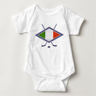 Italian Ice Hockey Logo Baby Bodysuit