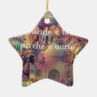 Italian idiom. ceramic ornament