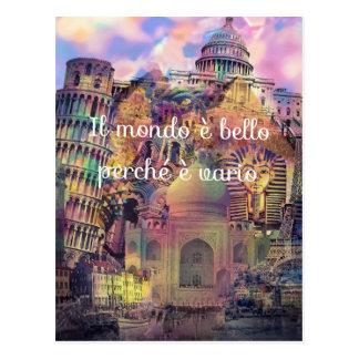 Italian idiom. postcard