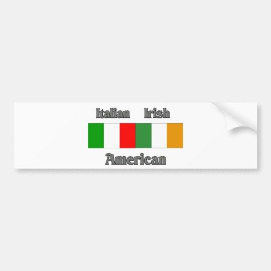 Italian Irish American Bumper Sticker