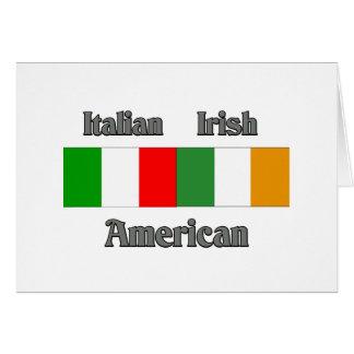 Italian Irish American Greeting Card