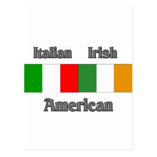 Italian Irish American Postcard