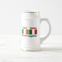 Italian Irish - Perfect Together! Beer Stein