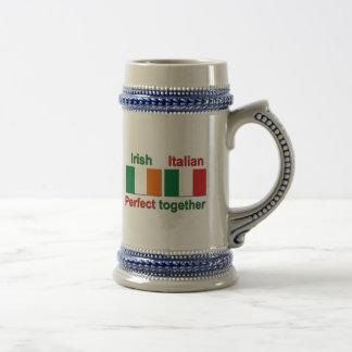 Italian Irish - Perfect Together! Beer Stein