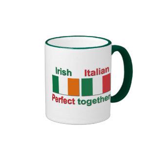 Italian Irish - Perfect Together! Ringer Coffee Mug