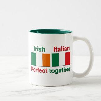 Italian Irish - Perfect Together! Two-Tone Coffee Mug