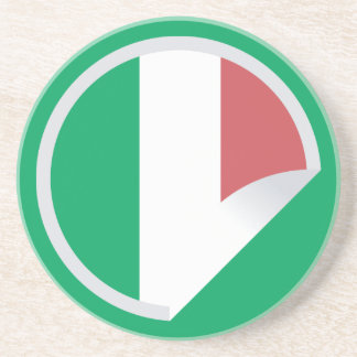 Italian Italy Flag Peel-off Sticker Drink Coaster