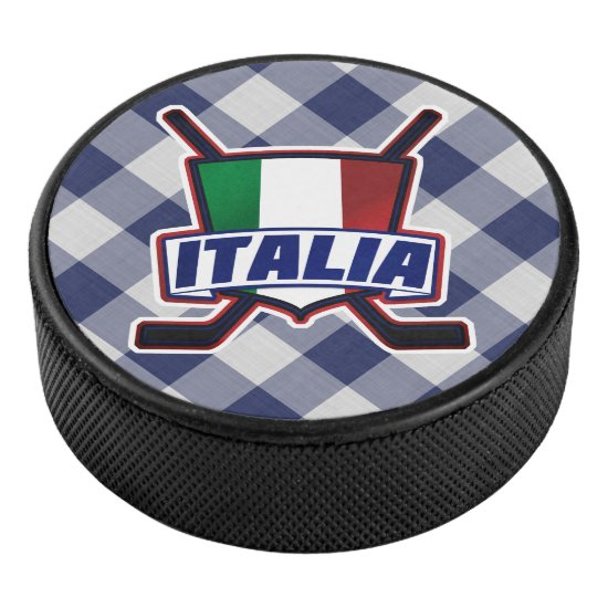 Italian Italy Ice Hockey Team Puck