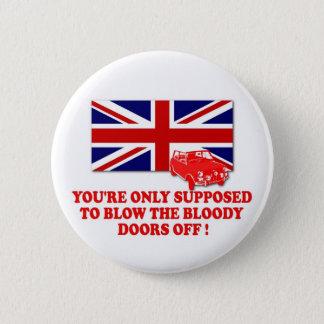 Italian Job 69 Union Jack Michael Caine slogan Button
