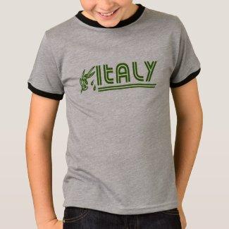 Italian Kids Retro Olive Branch Hooded Sweatshirt