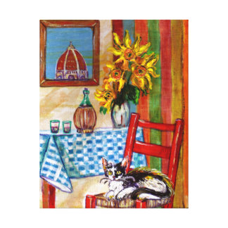ITALIAN KITCHEN IN FLORENCE CANVAS PRINTS