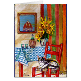 ITALIAN KITCHEN IN FLORENCE GREETING CARD
