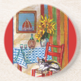 ITALIAN KITCHEN IN FLORENCE DRINK COASTER