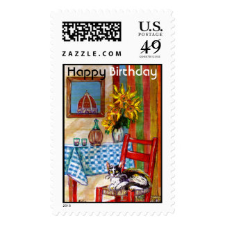 ITALIAN KITCHEN IN FLORENCE Happy Birthday Postage