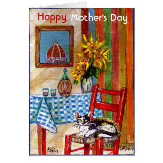 ITALIAN KITCHEN IN FLORENCE / MOTHER'S DAY GREETING CARD