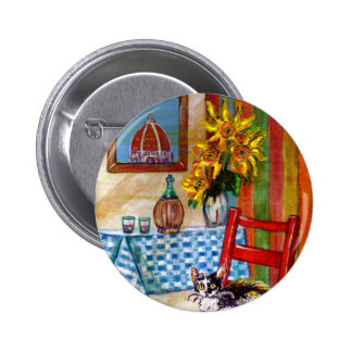 ITALIAN KITCHEN IN FLORENCE PINBACK BUTTON